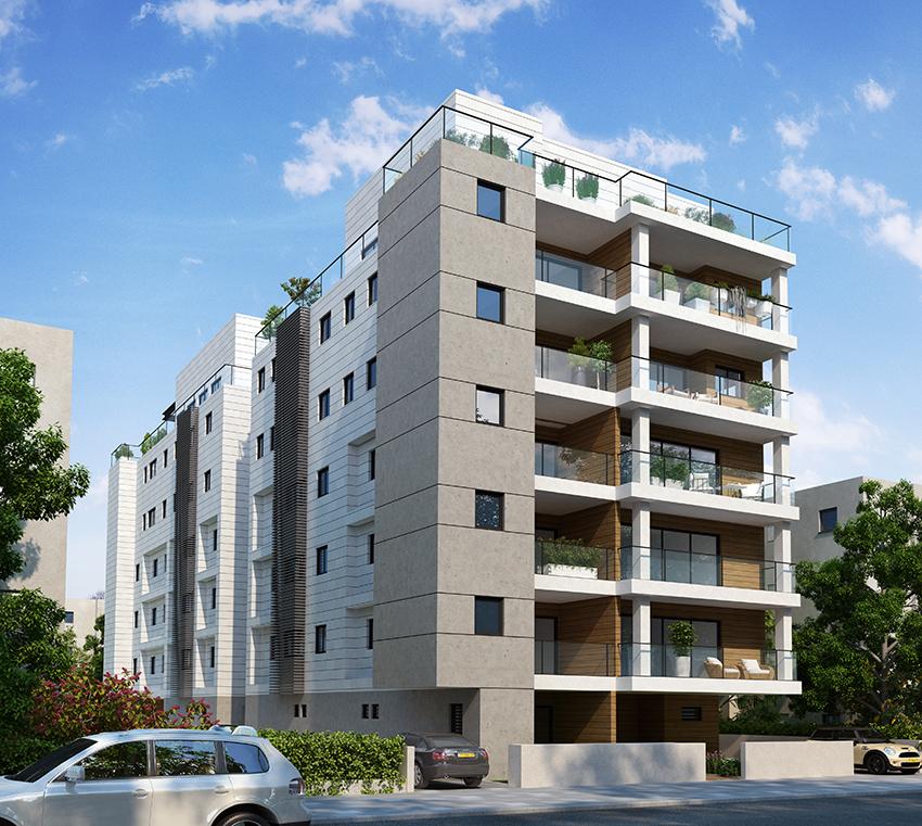 Projet d'appartements 5 pièces neufs au centre de Raanana