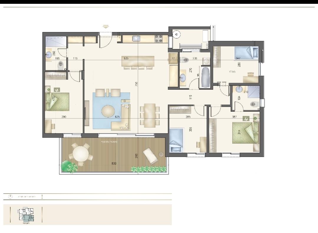 Grand 5 pièces de 137 m2 avec une terrasse de 22 m2